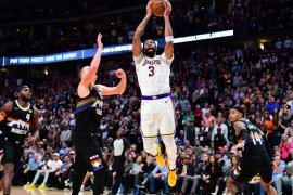 Basket, NBA - Davis dan James pimpin Lakers hantam Nuggets 105-96