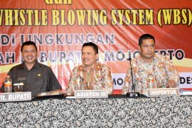 Pemkab Mojokerto ingatkan pembangunan wilayah bebas korupsi dan birokrasi bersih