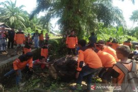 Minimalisir banjir, BPBD Tapsel dan Relawan gotongroyong bersihkan saluran air