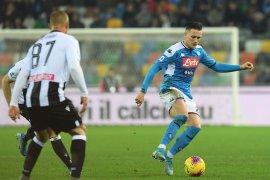 Napoli perpanjang catatan gagal menang setelah diimbangi Udinese
