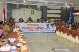 Sejumlah OPD Pemkot Sibolga presentasi di hadapan wartawan