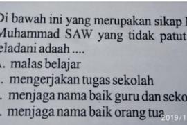 Soal ujian dinilai lecehkan Nabi Muhammad SAW viral di medsos