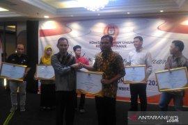LKBN Antara Biro Kalbar dapat penghargaan dari KPU Kota Pontianak