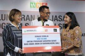 """""""Herbalife Nutrition Foundation"""" lakukan program """"Sarapan Sehat"""" sasar SD di Karangasem-Bali"""
