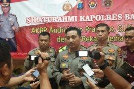 Kapolres Banjar silaturahmi dengan rekan media