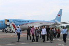 Presiden Jokowi mulai kunjungan kerja ke Kalimantan Timur