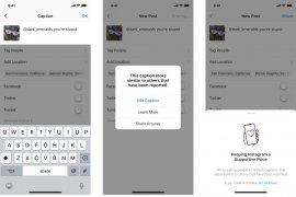 Instagram akan peringatkan pengguna soal unggahan menyinggung