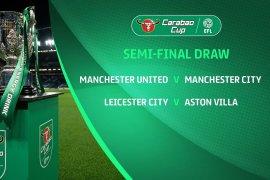 Derby Manchester City dan MU tersaji di semifinal Piala Liga