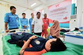 Ratusan karyawan WHW ikut donor darah