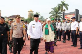 Polda Banten gelar apel pasukan untuk kegiatan Operasi Lilin Kalimaya 2019