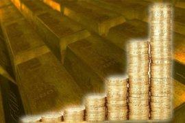 Emas naik 16 dolar, setelah dolar AS jatuh dua bulan
