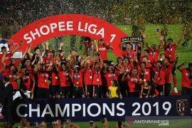 Bali United rayakan juara Liga 1 2019