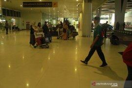 Puncak kepadatan penumpang di Bandara Sepinggan Balikpapan