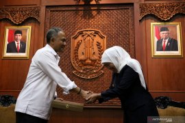 Kunjungan Kepala BNN di Grahadi Surabaya