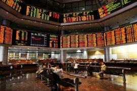 Pasar saham di Malaysia ditutup melemah