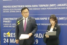 Japan minister hopes MRT to overcome traffic congestion in Jakarta