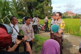 Polisi : penyebab kematian Nurbiah diduga terpeleset di kolam