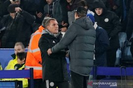 Pelatih Leicester berharap James Vardy bisa tampil di semifinal leg kedua lawan Aston Villa