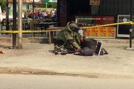 Tas hitam yang dicurigai berisi bom di depan Mapolres Tebing Tinggi ternyata hanya berisi pakaian