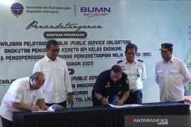 Menhub tandatangani PSO angkutan laut dan  kereta api