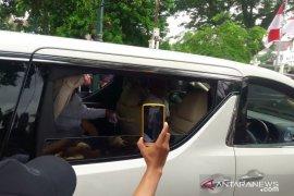 Menhan Prabowo dan putranya temui Presiden Jokowi di Gedung Agung