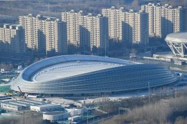 Stadion utama Olimpiade Musim Dingin Beijing tuntas
