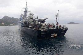 Tiga KRI siaga tempur amankan laut Natuna