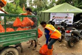 Askrindo- Bank Mandiri-Perhutani tanggap darurat banjir-longsor di Bogor