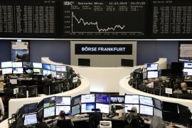 Seluruh saham unggulan Jerman naik dengan indeks DAX 30 melonjak 2,87 persen