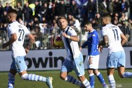 Dua gol Ciro Immobile bawa Lazio tundukkan Brescia