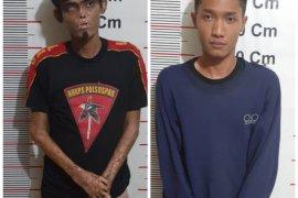 Polisi Secanggang Langkat tangkap dua tersangka pemilik ganja