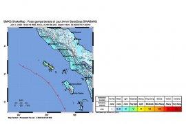 Gempa magnitudo 6.4 di Sinabang