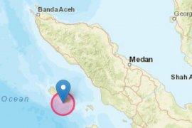 Gempa 6,4 di Samudra Hindia terasa di Kota Gunungsitoli