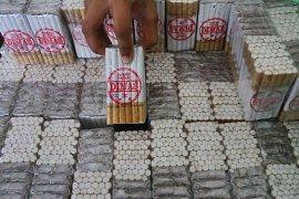 Bea Cukai Malang sita ribuan bungkus rokok ilegal