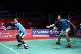 Bulu tangkis  - Ahsan/Hendra jaga kondisi jelang laga semifinal Malaysia Masters 2020