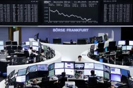 Saham Eropa turun dari tertinggi ketika pasar saham Asia melemah