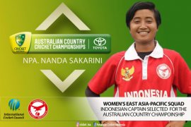 Pemain timnas kriket Indonesia membantu tim ICC EAP juara di Australia