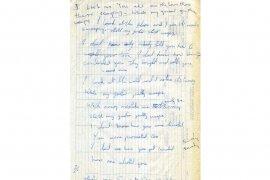 Tulisan tangan lirik lagu Beatles ini dilelang Rp2,7 miliar