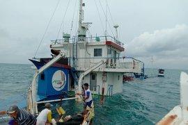 Nahkoda dan ABK kapal kargo yang tenggelam di Pulau Belitung selamat