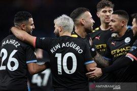 Man City lucuti Aston Villa dan naik ke posisi kedua