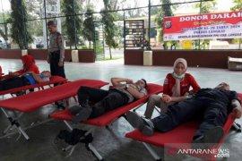 150 peserta ikuti donor darah HUT Satpam Polres Langkat