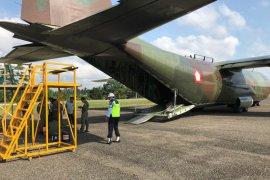 Pesawat Hercules C-130 TNI AU mendarat darurat di Aceh Utara