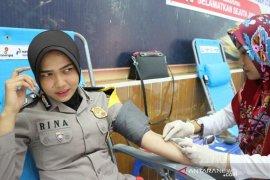 Polres Aceh Utara dan Satpam kumpulkan darah 47 kantong