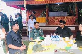 Pangdam Udayana melayat ke rumah  mantan Wakil Jaksa Agung