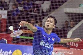 Anthony Ginting dan Jonatan Christie lolos perempat final Indonesia Masters