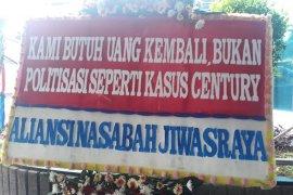 Sederet karangan bunga dukungan usut kasus Jiwasraya