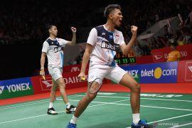 Fajar/Rian lengkapi dominasi tuan rumah di semifinal Indonesia Masters
