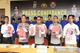 Polisi sita 121,53 gram narkotika