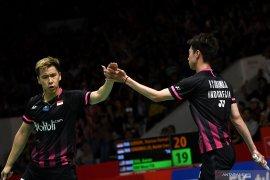 Final Indonesia Masters 2020, Indonesia pastikan gelar juara ganda putra