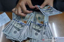 Dolar AS menguat tipis saat pedagang amati pembicaraan stimulus